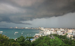 Storm clouds and rain Stock Images