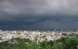 Storm clouds and rain Stock Image