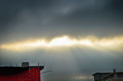 Storm Clouds and Rain Royalty Free Stock Photography