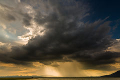 Storm clouds with the rain. View of Storm clouds with the rain royalty free stock photo
