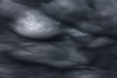 Storm clouds. Rare ball lightening inside dramatic storm clouds Royalty Free Stock Photography