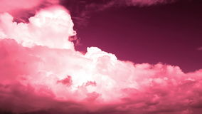 Storm clouds with red filter. Video without birds stock video footage