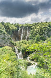 Storm Clouds Roll Over Plitvice Lakes National Park Royalty Free Stock Image