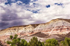 Storm Clouds Sandstone Mountain Capitol Reef National Park Utah Stock Images