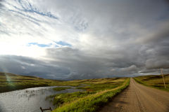 Storm clouds in Saskatchewan Stock Photos