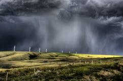Storm Clouds Saskatchewan. Wind farm Swift Current Canada royalty free stock photo
