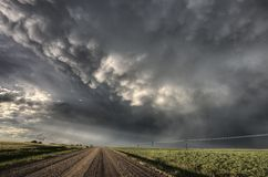 Storm Clouds Saskatchewan Stock Photo
