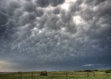 Storm Clouds Saskatchewan Stock Image