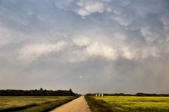 Storm Clouds Saskatchewan. Summer scenic imaging Canada Stock Photography
