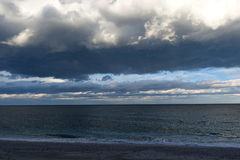 Storm clouds and sea Stock Photography