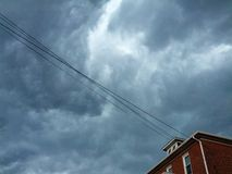 Storm Clouds. A severe storm approaching Downingtown PA on a July evening stock image