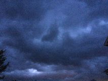 Storm clouds before a severe thunderstorm. Royalty Free Stock Images