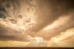 Storm Clouds. Showing an area where there is severe rainfall near the Utah/Arizona border Stock Photo