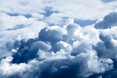 Storm clouds sky a background. Royalty Free Stock Photography