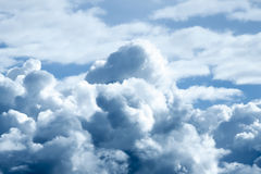 Storm clouds sky a background. Stock Image