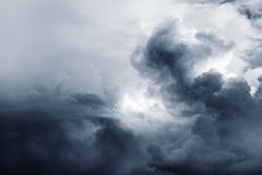 Storm clouds. Sky. Copy space top left royalty free stock images