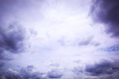 Storm clouds in the sky Royalty Free Stock Photography