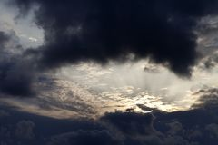 Storm clouds on sky in evening Stock Photo