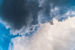 Storm clouds. In the sky at summer time stock photos
