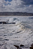 Storm clouds and a stormy sea Stock Photo