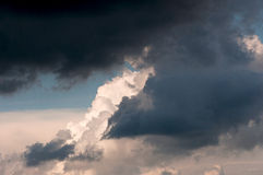 Storm clouds summer afternoon lightening. Royalty Free Stock Image