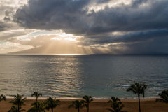 Storm Clouds and Sunbeam Royalty Free Stock Images