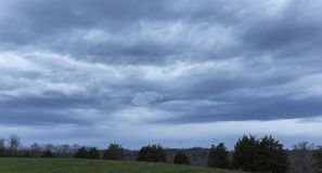 Storm Clouds Before Sunrise Royalty Free Stock Photos