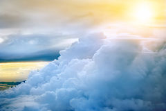 Storm clouds with sunset Royalty Free Stock Photos