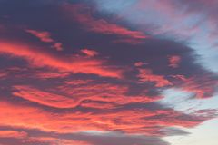 Storm clouds at sunset. Dramatic stormy sky before dawn stock photos