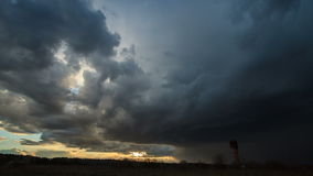 Storm clouds at sunset. Time Lapse. Video stock video footage