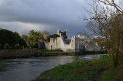 Storm Clouds Swirling Over Desmond Castle in Ireland Royalty Free Stock Photography
