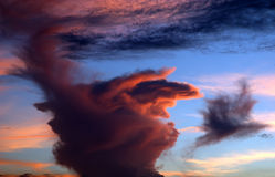 Storm Clouds6. The hands of God in a storm cloud at sundown royalty free stock photo