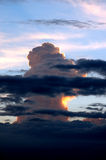 Storm Clouds7. A towering storm cloud at sundown Royalty Free Stock Photos