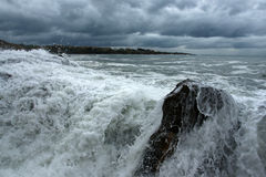 Storm - 3. Storm on the coast of the Black Sea in Bulgaria in the fall Royalty Free Stock Images