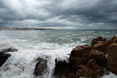 Storm - 1. Storm on the coast of the Black Sea in Bulgaria in the fall Royalty Free Stock Images