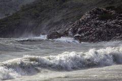 Storm at the coast Royalty Free Stock Image