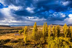 A storm comes in over the hills in the Karoo Royalty Free Stock Images