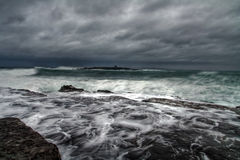 Storm is coming. Windy day on irish coastline - Doolin Royalty Free Stock Image