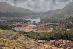 A storm coming. Scenic view of a killarney lake stock images