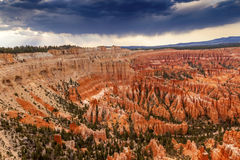 Storm Coming Amphitheater Bryce Point Bryce Canyon National Park Stock Photo