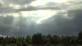 Storm coming in as time lapse clouds pass overhead 4K. Depression is on its way 4K stock video
