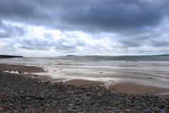 Storm coming at beal beach Stock Photos