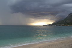 Storm is coming in Croatia Royalty Free Stock Photo