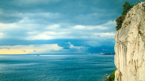 Storm is coming in the gulf of Trieste Stock Photos