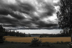 Storm is coming. Landscape before the storm at Jyvaskyla, Finland Royalty Free Stock Images