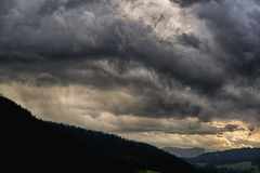 The storm is coming over the valley Royalty Free Stock Image