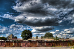 Heavy clouds in the summer Stock Images