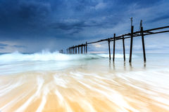 Storm is coming to the beach Royalty Free Stock Photography