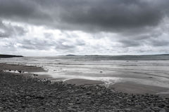 Storm coming to beal beach Stock Photography