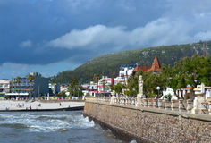 Storm is coming to the resort town of Piriapolis, Uruguay Coast Stock Photography